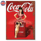 Metal Signs - COCA COLA Pin Up Girl Retro Wall Plaque Mancave Vintage Tin Sign £6.99  on eBay