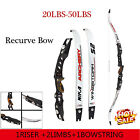 "20-40Ibs Recurve Bow Right Hand Archery Hunting 68"" Takedown Longbow Target"