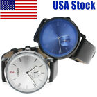 SKMEI Mens Large Dial Waterproof Stainless Leather Band Casual Dress Watch Hot image