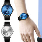 2cm Mens Large Dial Waterproof Stainless Leather Band Casual Dress Watch US Ship image