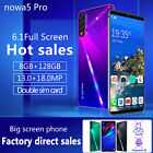 "Nowa 5 Pro 6.1"" 8gb +128gb Unlocked Android Mobile Smart Phone Hd Phablet Wifi"
