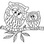 'Two Owls' Rubber Stamp (RS000112)