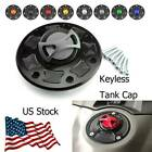 Motorcycle Keyless Fuel Tank Gas Cap Cover For Kawasaki ZX-11C ZX-11D 1990-1993