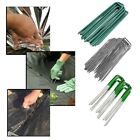 """*UK Seller* 6"""" HEAVY DUTY GALVANIZED Metal Pegs Pins Weed Control Fabric"""