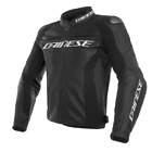 Dainese Racing 3 Leather Jacket Black Leather Motorcycle Jacket NEW