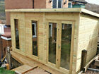Pent Contemporary SummerHouse Shed Garden Office Log Cabin T&G