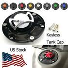 Motorcycle Keyless Fuel Tank Gas Cap Cover Fit For Triumph Tiger 800XC All Years
