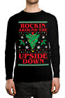 Rockin Around The Upside Down Christmas Tree Gift Long Sleeve Men's Shirt