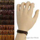 Brown Leather Cord Multi Wrap Bracelet Custom Handmade to 72 inches USA necklace