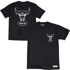 Chicago Bulls Mitchell & Ness NBA Black & White Logo T-Shirt - Black on eBay