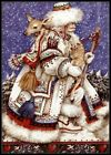 Father Christmas with Deer - Charts Counted Cross Stitch Patterns Needlework