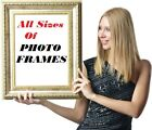 White Black Oak Silver Large Photo Picture Frame Poster Frames And White Mount