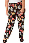 New Womens Plus Size Trousers Ladies Floral Print Pleaeted Bottoms Wide Leg Sale