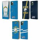 NFL 2019/20 LOS ANGELES CHARGERS LEATHER BOOK CASE FOR APPLE iPHONE PHONES $19.95 USD on eBay