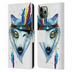 PIXIE COLD ANIMALS LEATHER BOOK WALLET CASE COVER FOR APPLE iPHONE PHONES
