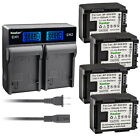 Kastar Battery LCD Rapid Charger for Canon BP-809 FS10 Flash Memory Camcorder