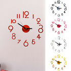 Modern Gifts For Home DIY Large Wall Clock Full Digital Simple Acrylic Mirror