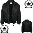 Relco Classic Black MA-2 Flight Jacket Bomber Pilot Military Army Security Biker