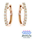 StoreInventorysolid 14k 0.30ct real natural one liner diamond huggies fine earrings jewelry