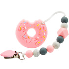 Kyпить Doughnut Baby Teether Silicone Soother Chewable Teething Toy W/ Pacifier Clip ???? на еВаy.соm