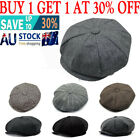 8 Panels Newsboy Flat Cap Peaky Blinders Baker Golf Driving Boy Mens Beret Hat.