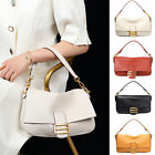 3 Straps Small Soft Real Leather Shoulder Bag Crossbody Flap Baguette Top Handle