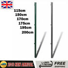 2x Garden Metal Fence Post  for Chain-Link Fence Support Stake Fencing Posts