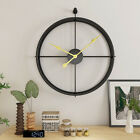 Iron 3D Wall Clock Vintage Wall Round Clock Hanging Watch Office Bedroom Decor