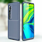 For Xiaomi Mi Note 10 CC9 Pro Shockproof Carbon Fiber Rubber Case Back Cover