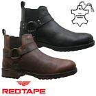 MENS RED TAPE LEATHER ANKLE COWBOY CHUKKA DESERT CHELSEA BROGUES BOOTS SHOES