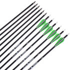 Archery Carbon Arrows Target Hunting Replaceable Point for Compound Recurve Bows