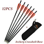 Archery Fiberglass Crossbow Arrows +Archery Quiver Arrow Holder Bow for Hunting