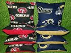 Los Angeles Rams San Francisco 49ers Set of 8 Cornhole Bean Bags FREE SHIPPING $29.99 USD on eBay