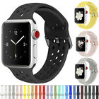 Silicone Sports Wrist Band Strap For Apple iWatch Series 5/4/3/2/1 38/42/40/44mm image