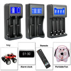 2 4 slots usb smart battery charger lcd display fr aa aaa li ion nicd nimh 18650