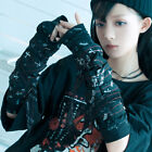 Punk Rock Gothic nirvana Bandage Fingerless elbow Gloves Are Warmers JG395