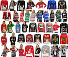 New Unisex Womens Ladies Mens Christmas Jumpers Knitted Reindeer 3D Light Retro