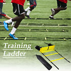 6 8 12 Rungs Speed Agility Ladder Football Sports Training Exercise Equipment US