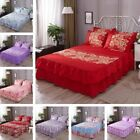 Elastic Bed Skirt Dust Ruffle Easy Fit Twin Queen Sheet Bedspread Drop Cover image