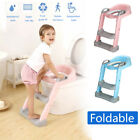 165 lbs Kids Potty Trainer Child Toddler Toilet Chair Seat w/ Step Stool Ladder image