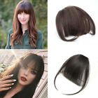Women's Top Bangs Clip in Fringe Front Hairpiece 100% Human Hair Air/Thick Bangs
