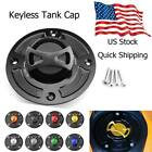 CNC Motorcycle Keyless Gas Fuel Tank Cap Cover Fit For Suzuki GSXR1000 2001-2002