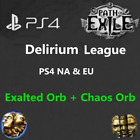 Path of Exile POE Orbs Delirium League PS4 Version Exalted  Chaos Orb NA US EU
