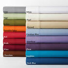 1 PC Fitted Sheet or 3 PC Fitted Sheet Set New Egyptian Cotton RV Queen & Solid image