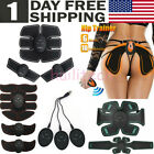 USB Rechargeable 6/8 Pads Abdominal Muscle EMS Stimulator Toner Abs Hip Trainer image