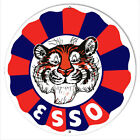 Esso Tiger Gas And Motor Oil Garage Art Reproduction Metal Sign 30 Round