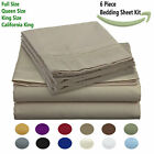 1800 Count Egyptian Comfort Sheet Set -  6 Piece Deep Pocket Microfiber Bedding image