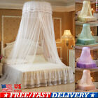 Ceiling-Mounted Mosquito Net Free Installation Home Dome Foldable Bed Canopy US image