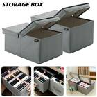 foldable fabric storage box with lid drawer toys books clothes shelving organise