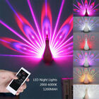 peacock wall remote projection lamp romantic atmosphere colored deep night light